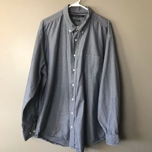 Tommy Hilfiger Men's Button Down Shirt XXL Gray